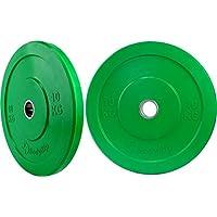 Bodyrip dy-h-2008 - Piatti per pesi, olimpionici, 2 x 10 Kg, (Due Fori Piastra)