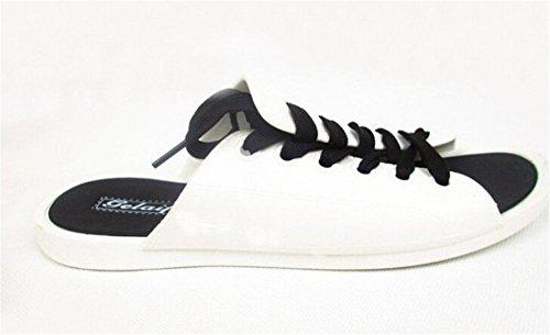 Fortuning's JDS Causal einzigartige shoelace Entwurf Sommer Sandalen für Männer Frauen Weiß