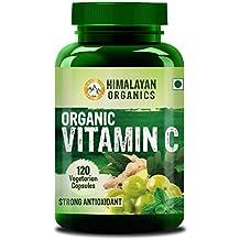 Himalayan Organics Organic Vitamin C 1000Mg/Serve - 120 Veg Capsules - Certified Organic - Glowing Skin & Immunity