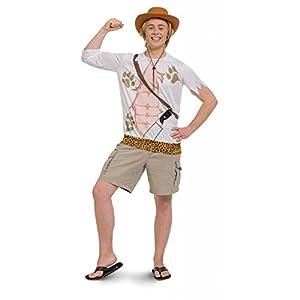 Folat 63380-Jungle Jim Safari Camiseta Hombres-Tamaño M de l
