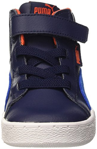Puma , Jungen Sneaker Bianco Peacoat/Royal