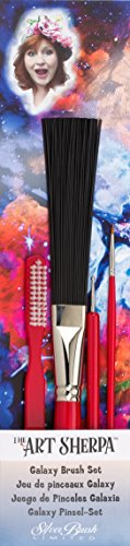 Silver Brush The Art Sherpa Galaxy Pinsel-Set, Acrylpinsel Jackson Sherpa