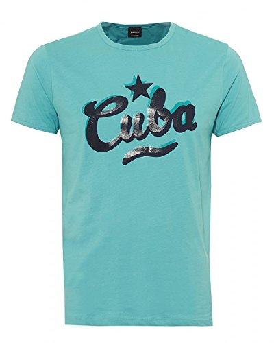 Boss orange hugo mens tauno 5 t shirt slanted cuba for Boss mens t shirts