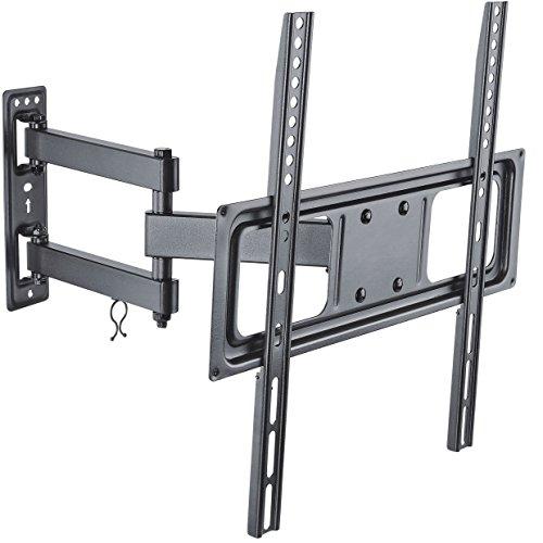 deleyCON Soporte universal de pared para TV 32'-55' pulgadas (81-140cm) inclinable y rotatorio - 35Kg - hasta VESA 400x400 Plasma LCD LED OLED TFT