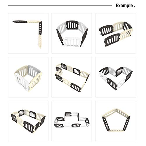 LIUFS-Playpens Game Fence Home Expansion Type Safety Natural Fence (color : 10 fences (5 white 4 white+door)) LIUFS-Playpens