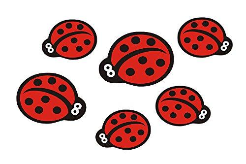 Autoaufkleber, Marienkäfer: Mini Ladybugs - 46 Stück -
