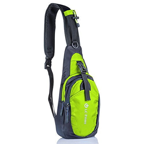 LC Prime Sling Bag Chest Shoulder Unbalance Gym Backpack Sack Satchel Outdoor Bike nylon fabric green