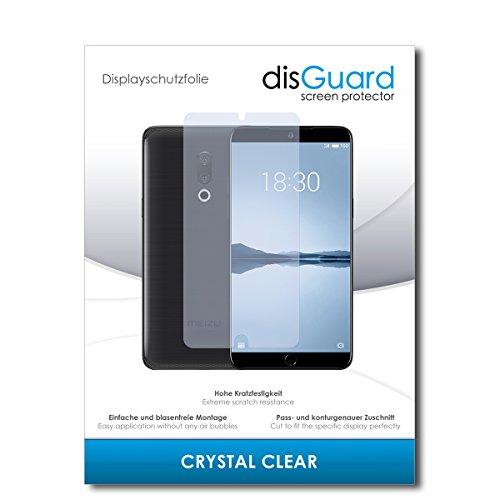 disGuard® Bildschirmschutzfolie [Crystal Clear] kompatibel mit Meizu 15 Plus [2 Stück] Kristallklar, Transparent, Unsichtbar, Extrem Kratzfest, Anti-Fingerabdruck - Panzerglas Folie, Schutzfolie