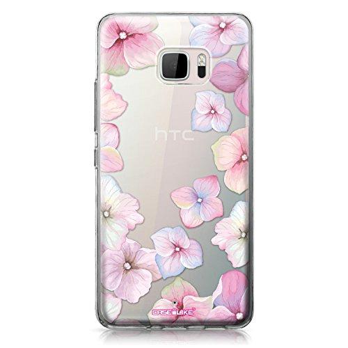 CASEiLIKE® HTC U Ultra Hülle, HTC U Ultra TPU Schutzhülle Tasche Case Cover, Hortensie 2257, Kratzfest Weich Flexibel Silikon für HTC U Ultra