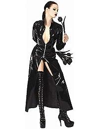 cfd7d8c36c65 Mesky Cosplay Costume Cape PVC Pelle Verniciato Brevetto Lungo Antivento  Adulti Donna Chiusura Cerniera per Halloween