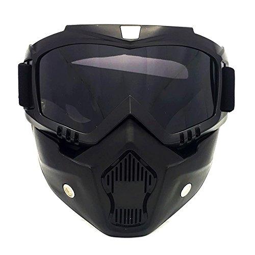 TININNA Anti-Brouillard Casque de Moto Lunettes de Protection UV Protection Masque Facial Détachable et Lunettes de Course #3