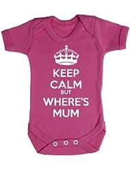 Baby Buddha - Keep Calm But Wheres Mum Baby Bodys / Strampler 100% Baumwolle