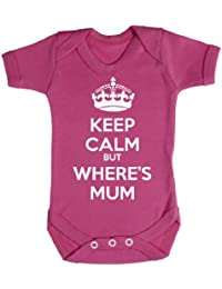 Baby Buddha - Keep Calm But Wheres Mum Baby Bodys / Strampler 100% Baumwolle