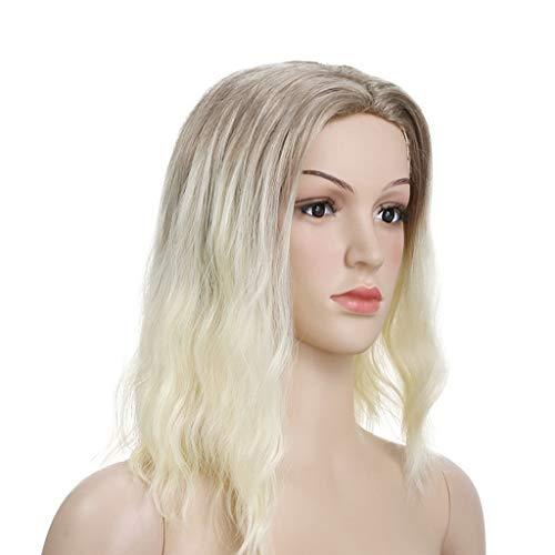 Frauen Perücke Kurze Lockigen Haar, Mode Blond Gelb Farbmischung Perücken Haare für Damen Party Cosplay Fotografie Haar, ()