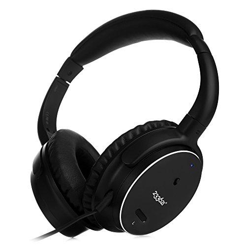 H501 Casque Stéréo Réduction de Bruit avec Batterie Plus Longue anc -50 Heures, Certifié Apple MFi Casque Audio Filaire avec Microphone et Contrôle du Volume (Filaire/Métal Noir)