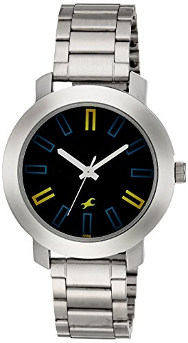41qyE4Kc9XL - Fastrack 3120SM02 Casual Navy Mens watch