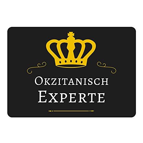 Mousepad Okzitanisch Experte schwarz