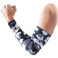 COOLOMG Arm Sleeve Armwärmer Ärmling Kompression Rutschfest Anti UV Running Radfahren Volleyball Basketball (1... preisvergleich bei billige-tabletten.eu