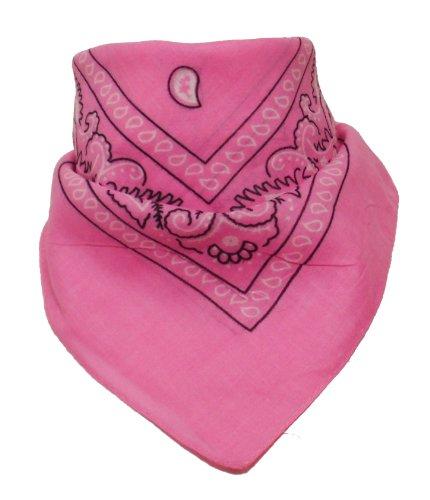 Alex Flittner Designs Original Bandana mit Paisley Muster in Rosa 100% Baumwolle