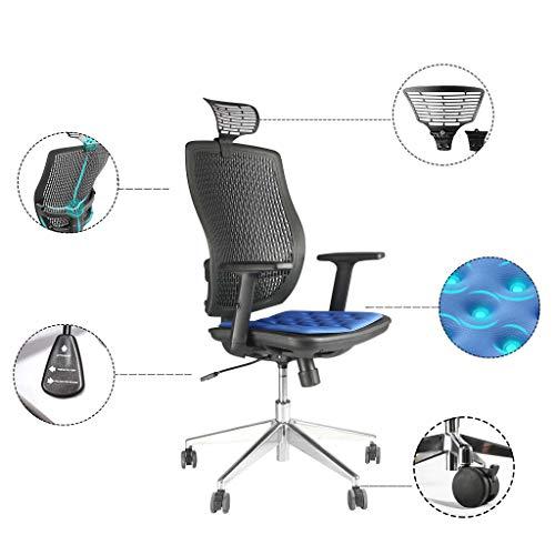 Henlus Bürostuhl/Yoga-Stuhl, mittlere Rückenlehne, Drehgelenk, ergonomischer Netz-Rollstuhl mit Armlehne