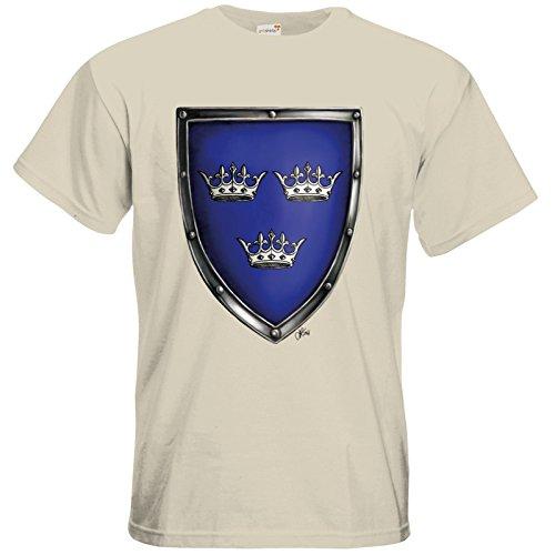 getshirts - Das Schwarze Auge - T-Shirt - Die Siebenwindküste - Wappen - Albernia Natural