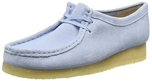 Clarks Damen Wallabee Derby, Blau (Pastel Blue), 37.5 EU (Frauen Wallabee-schuhe)