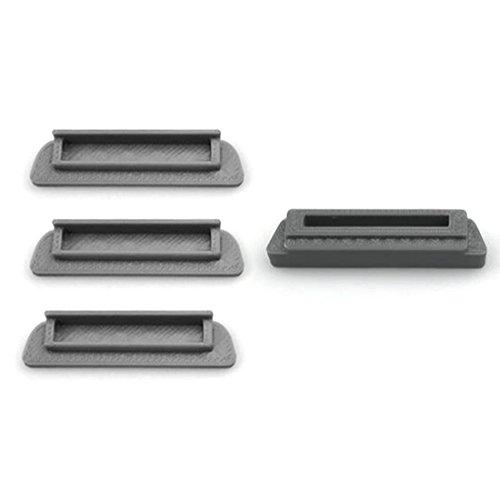 Preisvergleich Produktbild TXXCI 3 Stück Anti-Staub-Abdeckung für DJI Mavic Pro Batterie Aufladung Port + 1Pcs Anti-Staub-Abdeckung für DJI Körperbatterie Aufladungshafen-Schutz-Abdeckung - Schwarz