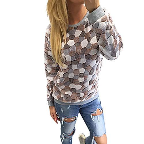 Kostüm Asian Einfach - AMUSTER Pullover Damen Strickpullover Sweater Frauen Rundhals Langarm Pulli Bluse Tops Oberteile Festlich Kostüm Langarm Oberteile mit Steindruck