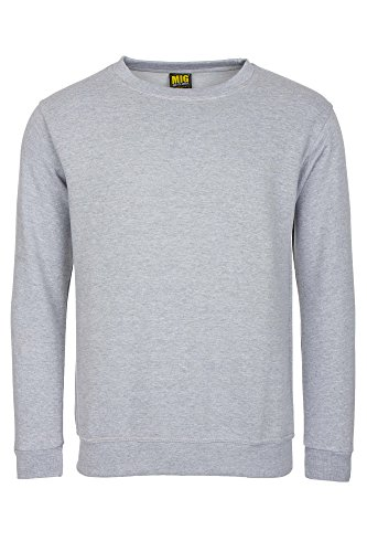 Mens Plain Classic Sweatshirts Sizes XS to 6XL By MIG - WORK CASUAL SPORTS LEISURE (3XL - XXXL, Grey)