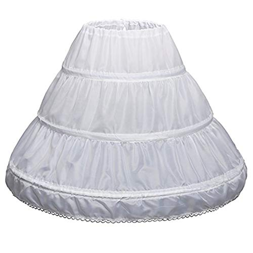 Aawsome White Children Petticoat ,A-Line 3 Hoops One for sale  Delivered anywhere in UK