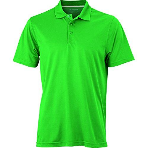 JAMES & NICHOLSON Herren Poloshirt, Einfarbig vert prairie