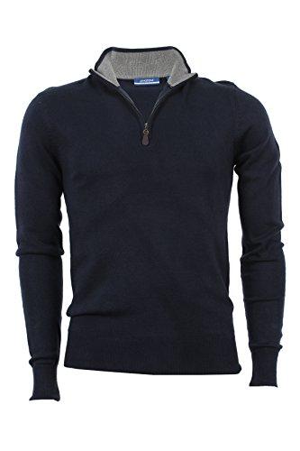 Pullover mezza zip Aigle blu, M