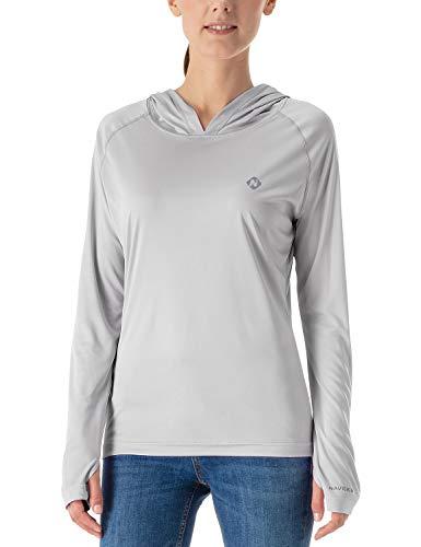 NAVISKIN Playera Casual UPF 50+ Capucha Mujer Camiseta