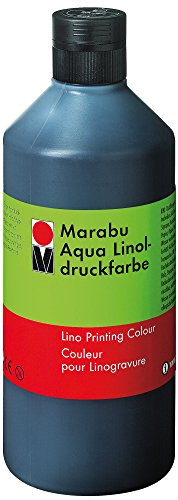Linoldruckfarbe Aqua schwarz MARABU 1510 75 073 500ml
