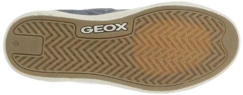 Geox J Ciak G. B, Baskets mode fille Bleu (Avio)