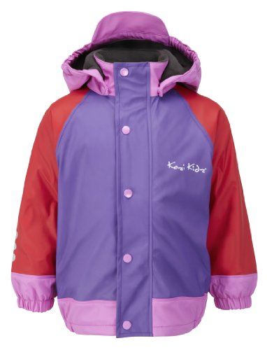 Kozi Kidz Varberg Fleece Lined Waterproof Jacket - Purple/Red, Size 130