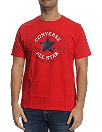 Converse T-Shirt Men CORE CHUCK PATCH 10002848 Rot 934