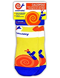 Mebby Calzofole Snail Baby/Toddler Socks (Orange/Blue/Yellow, 0-6 months)