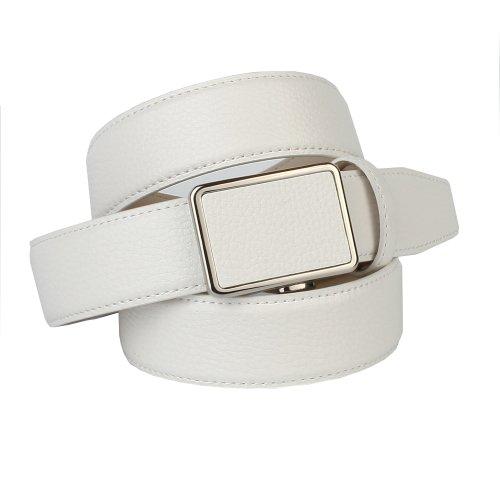 Anthoni Crown ceinture pour homme 3,5cm largeur, blanc, 90-120см longueur fe99014e738