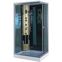 Cabine de Douche hydromassante Modele Portofino 100 x 70 cm SPA Bain Massage Verre 6 mm