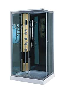cabine de douche hydromassante spa bain massage portofino 100 x 70 cm verre 5 mm comme dans la. Black Bedroom Furniture Sets. Home Design Ideas