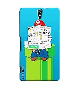 Omnam Mario Reading Newspaper On Water Tank Printed Designer Back Cover Case For Sony Xperia C5