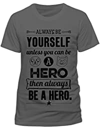 ADVENTURE TIME Men's Always Be Yourself Short Sleeve T-Shirt