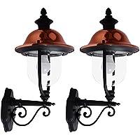 297d33552813a4 Lot de 2 lumières de mur de style de pays en métal lumières extérieures de  lanternes