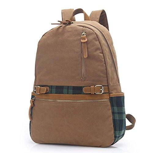 Mode Segeltuch-Schulter-Beutel-Computer-Beutel-Handbreathable Travel Rucksack khaki