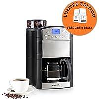 Klarstein Aromatica • Máquina de café • Máquina con filtro • Filtro de carbono • Antigoteo • 3 aromas: suave, medio e intenso • Temporizador 24h • 10 tazas • Filtro dorado • Plata • Edición limitada