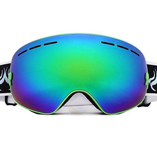 Meao Maschere da Sci con Staccabile Grandangolare Lenti Goggles Ampio Angolo di Visione Anti Fog UV 401 Protezione 3105