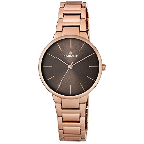 Watch Radiant. Mrs. Army Steel IP Copper. Brown Dial.