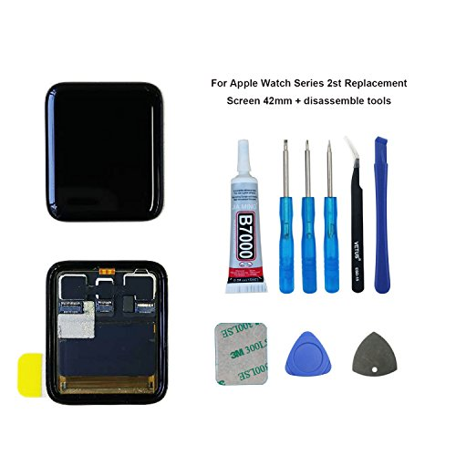 swark LCD Display Compatible with Apple Watch 2nd Gen 42mm LCD Screen and Digitizer Assembly +Tools 42 Lcd-display