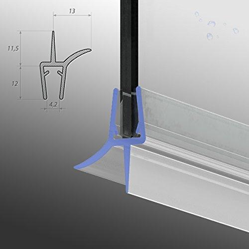 70cm M22 -- Ersatzdichtung für 5mm/6mm/ 7mm/ 8mm Glasdicke Wasserabweiser Duschdichtung Schwallschutz Duschkabine